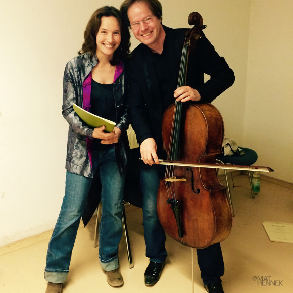 Hélène Grimaud with Jan Vogler in Redefin, Germany Photo: Mat Hennek