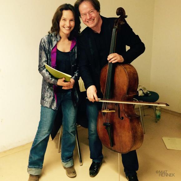 Hélène Grimaud with Jan Vogler in Redefin, Germany Photo: Mat Hennek